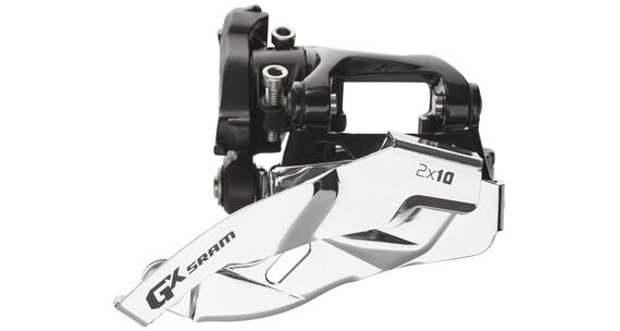 SRAM GX Umwerfer 2x10-fach Low Clamp Dual Pull schwarz/silber